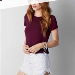 Soft and sexy burgundy T shirt